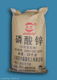 China High Purity Zinc Orthophosphate , Zinc And Phosphoric Acid 7779-90-0 White Color supplier