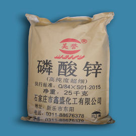China White Zinc Phosphate Coating Powder , Anti Rust Paint Pigment Powderzinc Phosphate Tetrahydrate Zinc Salt supplier